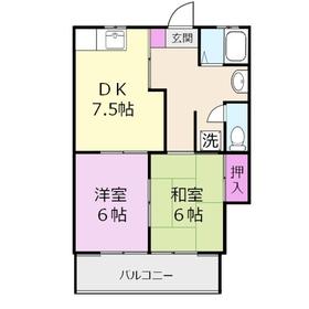 メゾン佐知2階Fの間取り画像
