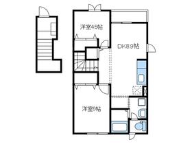 本厚木駅 バス21分「中平」徒歩6分2階Fの間取り画像