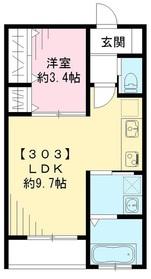 ロックフォレスト3階Fの間取り画像