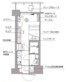 レックスガーデン神楽坂北町2階Fの間取り画像