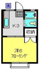ハイツヨネカワ2階Fの間取り画像