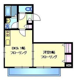 メゾン宝町1階Fの間取り画像