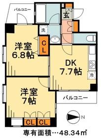 シャン・ド・フルール3階Fの間取り画像