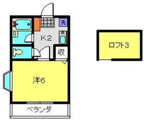 三ッ沢上町駅 徒歩10分2階Fの間取り画像