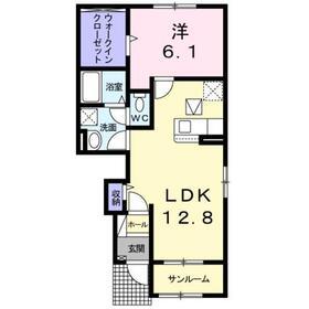 ヴィラジュ アルドーレ1階Fの間取り画像