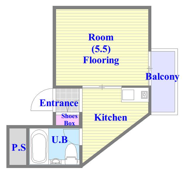 ロータリーマンション永和 学生さん・初めての1人暮らしにピッタリのコンパクトな間取です。