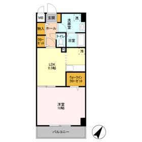 SOLARE横浜3階Fの間取り画像