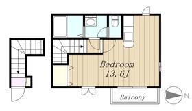 コンフォートヤマダヤ2階Fの間取り画像