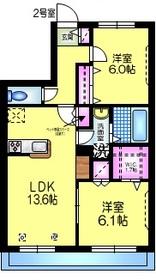 ラ ヴァリアンティ・リコー2階Fの間取り画像