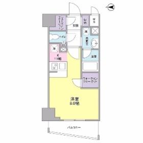 ディアレンス横濱沢渡1階Fの間取り画像