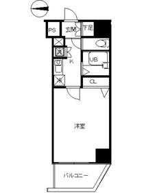 スカイコート蒲田64階Fの間取り画像