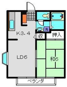 アルテ2階Fの間取り画像