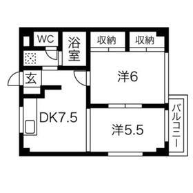 EstateYAMAZAKI3階Fの間取り画像