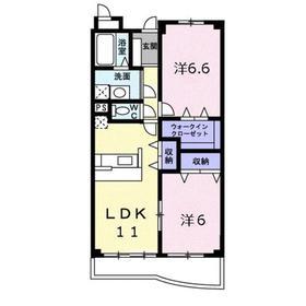 グランフォンテーヌ2階Fの間取り画像