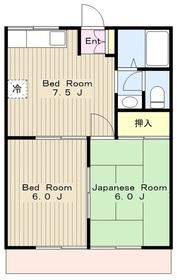 海老名駅 バス15分「綾瀬中原」徒歩3分2階Fの間取り画像