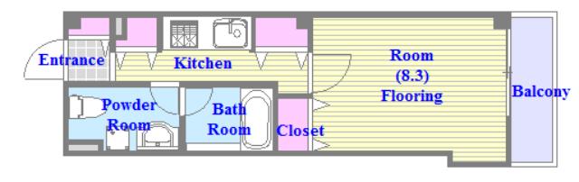 セレブ上小阪 うれしいバス・トイレがセパレートの単身さん向けの間取りです。