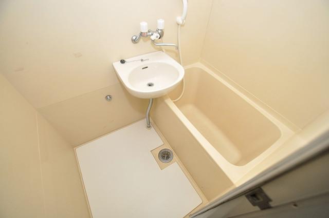 ルヴェール光陽園 ちょうどいいサイズのお風呂です。お掃除も楽にできますよ。