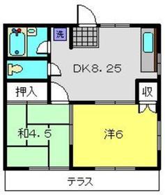 アドバンス61階Fの間取り画像