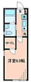 オリオン山手Ⅱ1階Fの間取り画像