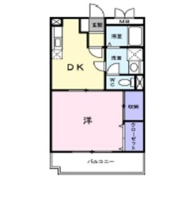 グランパス214階Fの間取り画像