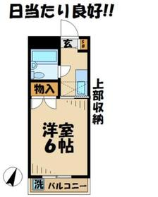グランドール青木3階Fの間取り画像
