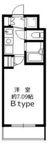 シャン・ド・フルール菊名1階Fの間取り画像