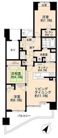 ライオンズヒルズ多摩永山壱番館6階Fの間取り画像