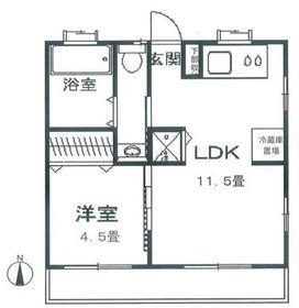 第1石川ハイム1階Fの間取り画像