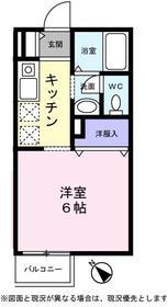 ミニヨン1階Fの間取り画像