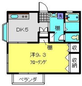 ラ・ヴェルズ2階Fの間取り画像