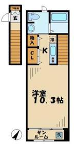 ハレラー2階Fの間取り画像