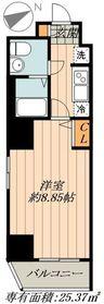 FUSION日本橋箱崎7階Fの間取り画像