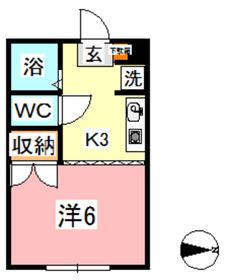 パルティール B2階Fの間取り画像
