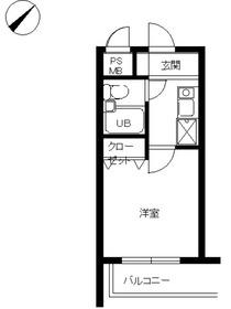 スカイコート宮崎台第43階Fの間取り画像