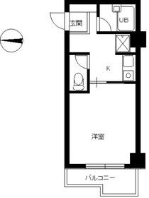 スカイコート文京小石川1階Fの間取り画像