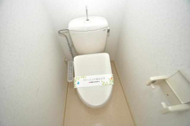 ビオス中小阪 スタンダードなトイレは清潔感があって、リラックス出来ます。