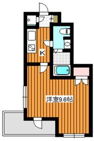 ビバリーホームズ赤塚公園Ⅱ2階Fの間取り画像