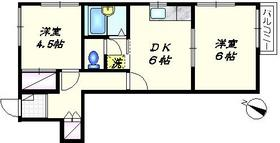 ハイム鵜の木2階Fの間取り画像