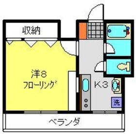 グランディール・横濱2階Fの間取り画像