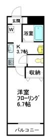 モダニカ3階Fの間取り画像