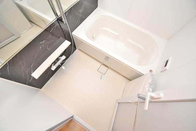 ハイツ ニッサク  広めのお風呂は一日の疲れを癒してくれます。