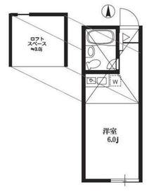 Y's Place東寺尾2階Fの間取り画像