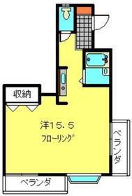 武蔵小杉駅 徒歩21分2階Fの間取り画像