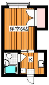 ハイムみづき2階Fの間取り画像