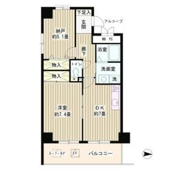 ウイングス・ハイ亀戸6階Fの間取り画像