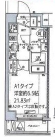 スクエアシティ横浜鶴見1階Fの間取り画像