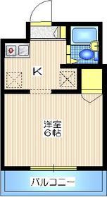 ベルマァーレ楠1階Fの間取り画像