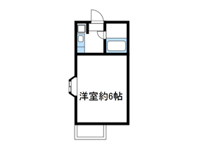 岡崎ハイツⅡ1階Fの間取り画像