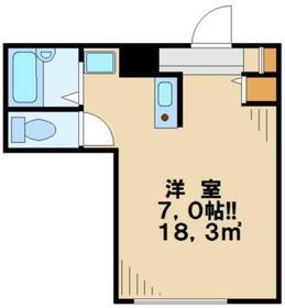 ヴランドール桜ヶ丘2階Fの間取り画像
