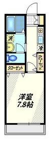 新川崎シティハウス1階Fの間取り画像